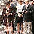 Beatrix en maxima lopend tore mayor