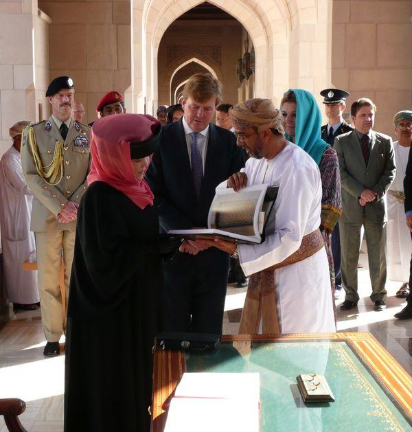 Reine Beatrix en visite à Oman
