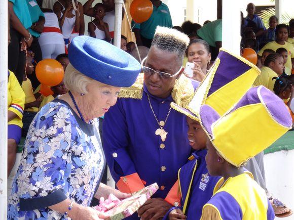 Beatrix in Caribbean forever Queen