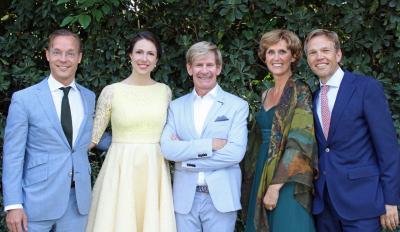 HRH Prince Jaime and HRH Princess Viktória de Bourbon de Parme, Addy van den Krommenacker, Mrs Carmen en Mr Joep Wijnands ambassador Netherlands