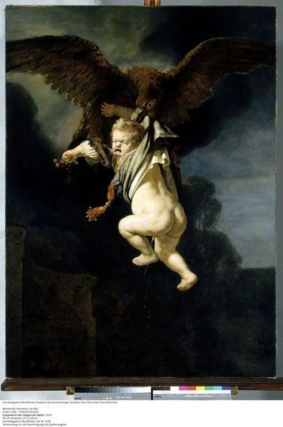 6 Rembrandt van Rijn. De roof van Ganymedes